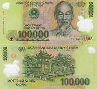 100,000 VIETNAMESE DONG CURRENCY (VND) - (1) 100,000 Banknote - FAST DELIVERY