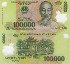 1 Million Vietnamese Dong Currency (Vnd) - (10) 100,000 Banknotes - Fast Ship!