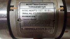 S. Himmelstein MCRT Non-Contact Torquemeter 6-02T (6-3) 7500RPM 6000lbs in
