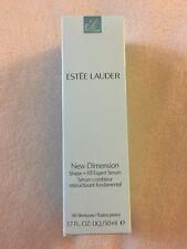NIB Estée Lauder New Dimension Shape + Fill Expert Serum 1.7fl oz Anti Aging