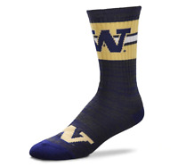 For Bare Feet Men's Washington Huskies First String Crew Socks