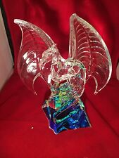 FRANKLIN MINT CRYSTAL DRAGON OF THE EMERALD REALM-MICHAEL WHELAN