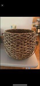 Threshold Seagrass Storage Basket, Ethnically Handcrafted