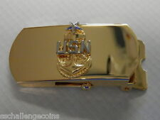 "USN 3"" Belt Buckle E-8 Senior Chief Petty Officer Regulation CSPO"