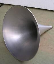 new made spun aluminium phonograph horn fonograaf