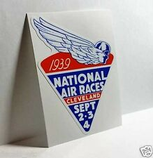 National Air Races 1939 Vintage Style Travel Decal / Vinyl Sticker,Luggage Label