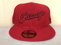 Brand New New Era Size: 7 5/8 Chicago Bulls Fitted Hat  RED/BLK