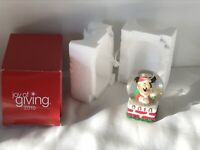 """""""Joy of Giving"""" 2010 Mickey Mouse snowglobe New In The Box."""