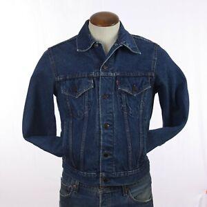 Vintage 1980s Size 34 Levi's Blue Denim Truckers Jacket Jean Jacket Coat