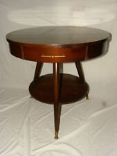 Furniture Vintage Octagon Drum Table Mid-century Modern Walnut Diamond Design Solid At All Costs Post-1950