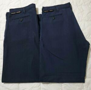 2 Pair Workrite FR 2112 Mens Flame Resistant Nomex Navy Pants