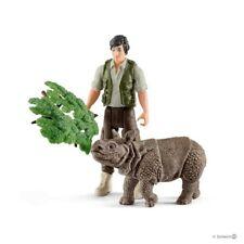 Ranger and Indian rhinoceros starter set Schleich 42428 Stunning strong tough<>