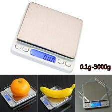 Digital Scale 3000g x 0.1g Jewelry Gold Silver Coin Grain Gram Pocket Size Herb