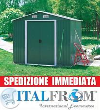 BOX CASETTA CASETTE RIPOSTIGLIO GARAGE GIARDINO LAMIERA ZINCATA 131x206x175H