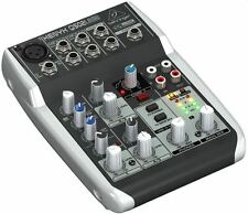 Behringer XENYX Q502 USB 5 Input 2 Bus Mixer With Audio Interface Inc
