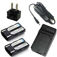Charger + 2x Battery Pack for Samsung VP-D375W VP-D451 VP-D453 VP-D454 VP-D455