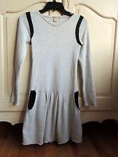 Ragdoll & Rockets girls terry light gray/black long sleeves dress 12