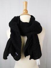 Calvin Klein Knit Ruched Ruffle Muffler Scarf Black #133