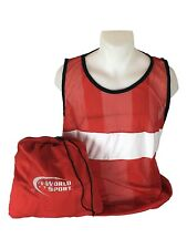 World Sport PRO SERIES Scrimmage Vests Set of 12 with Carry Bag bibs Red