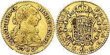SPAIN COIN CARLOS III 1 ESCUDO 1780 MADRID ORO GOLD ORIGINAL MAGNIFICA!!!