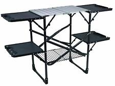 Cook Station Powder Coated Steel Frame with Aluminum Counter Top Fully Foldable