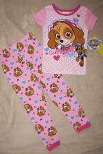 PAW PATROL *Calling All Pups!* Pnk S/S Shirt Pajamas Long Pjs Toddler sz 4T