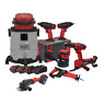 Sealey CP20V Series 8 x 20V Cordless Tool Kit Combo with 4 Batteries CP20VCOMBO4