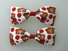Daniel Tiger Hair Bows with Alligator Clips