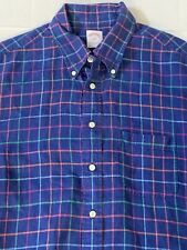Brooks Brothers Mens Linen Short Sleeve Button Down Shirt Size Large