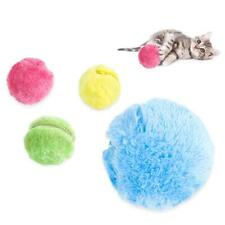 4 Color Electric Roller Toy Ball Automatic Pet Plush Activation Dog Cat Toy