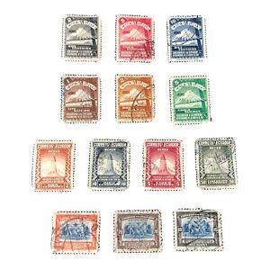ECUADOR, SCOTT # C73-C75(3)+C77-C79(3)+C80-C83(4)+C87/C88(2),1939 AIR POST USED