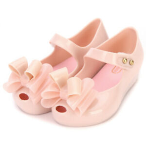Mini Melissa III Big Bow Girl Jelly Shoes Toddler Kids Child's Sandals US6-11