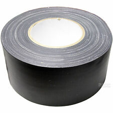 "Hosa 3"" x 60 Yard Black Gaffer's Tape Waxed Matte Black Ultra Low Residue Gaff"
