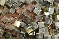 "Pyrite Cube Crystals 1/2"" 2 Pieces Rocks and Minerals Specimen Metal Ore Stone"