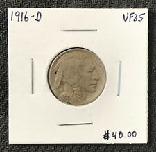 1916-D U.S. BUFFALO INDIAN NICKEL ~ VF+++ CONDITION! $2.95 MAX SHIPPING! C1713