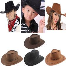 350a07b22d6 Men Women Kid Child Boy Girl Western Cowboy Hat Wide Brim Sombrero Sunhat  Panama