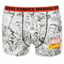 -12//13 anni Blu//Bianco Mix 2 PACK Marvel Fumetti Ragazzi Boxer-età 6//7