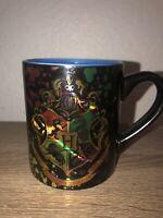 Harry Potter Hogwarts Crest Splatter Iridescent Ceramic Coffee Mug Cup