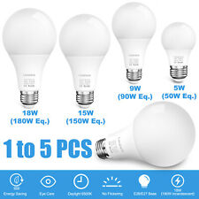 LED Light Bulbs 180W 150W 90W 50W E26 6500K Daylight Energy Saving Light Bulbs