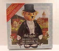 Peck-Gandre The Steiff / Strong Museum Groom Teddy Bear Paper Doll Set NEW