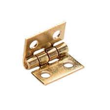 10x Mini Brass Plated Hinge - Small Decorative Jewelry Cigar Box Hinges EB