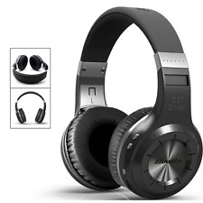 Black Bluetooth Wireless Stereo Headphone Headset For Samsung HTC LG Smartphone