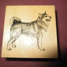 STAMP GALLERY Alaskan Malamute Dog Wood Mounted Rubber Stamp Canine Breed