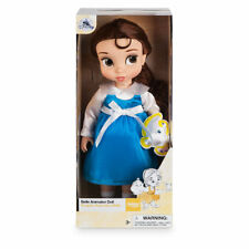 AUTHENTIC DISNEY ANIMATORS COLLECTION PRINCESS BELLE TODDLER DOLL & CHIP PLUSH