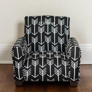 Chaise berçante rembourrée personnalisée pour enfants / Chaise - Flèches noires