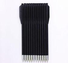 12PCS/ Plastic Black Darts Crossbow Mini Bow.Replacement Arrows Bolts 50 80 lb.