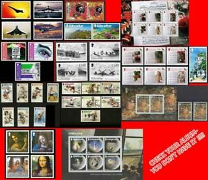 👉 GIBRALTAR 2019 complete COLLECTION (42 STAMPS + 3 S/S) MNH nominal £75.44