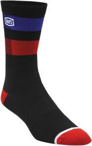 100% 24005-001-17 Flow Socks Blk Sm/Md