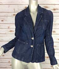 Levi's Jeans Denim Blazer Jacket 13C007 Womens XS/S Patch Pockets Floral Buttons