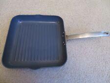 "Todd English GreenPan 11"" Grill Pan Anodized Nonstick Thermolon Rocks Gentle Use"